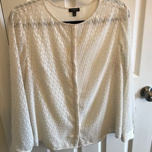 Long sleeved cream blouse, Talbots